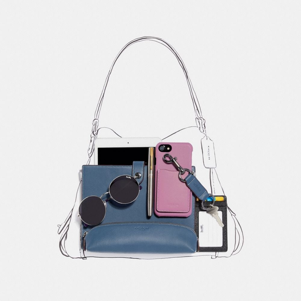 Coach Edie Shoulder Bag 31 With Patchwork Tea Rose and Snakeskin Detail Alternate View 4