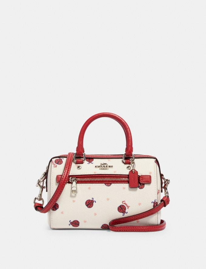 Coach Micro Rowan Crossbody With Ladybug Print Sv/Chalk/ Red Multi Deals Online Exclusives