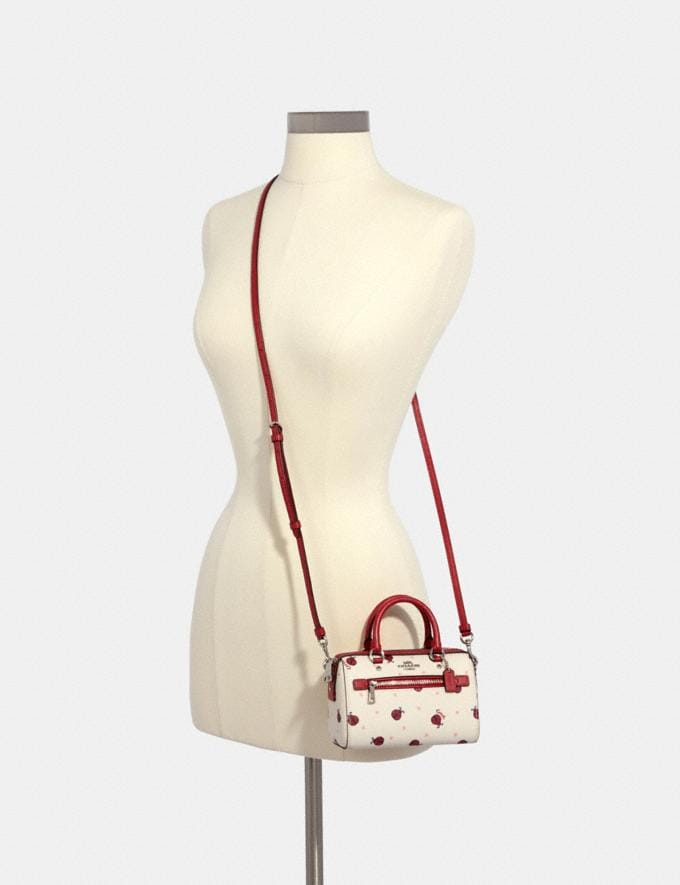 Coach Micro Rowan Crossbody With Ladybug Print Sv/Chalk/ Red Multi Deals Online Exclusives Alternate View 2