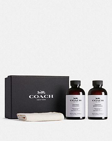 coach leather care set