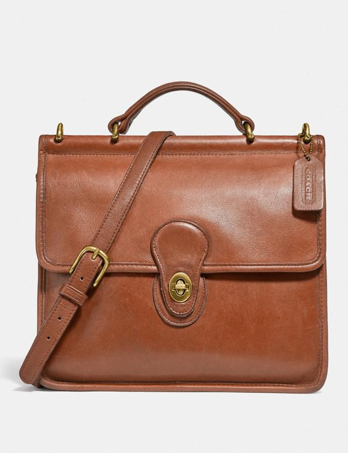 Coach Restored Willis Top Handle Brass/British Tan