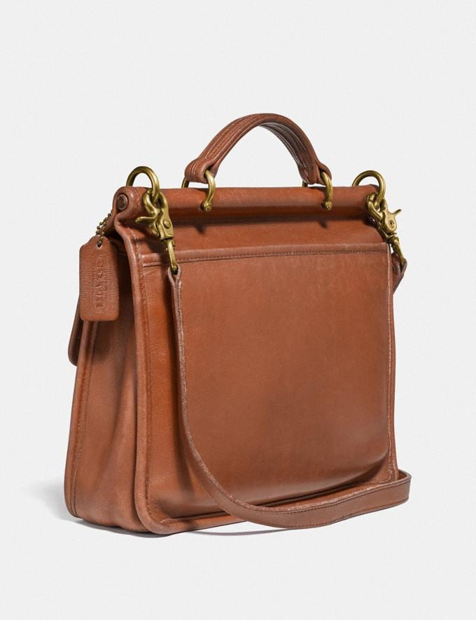 Coach Restored Willis Top Handle Brass/British Tan  Alternate View 1