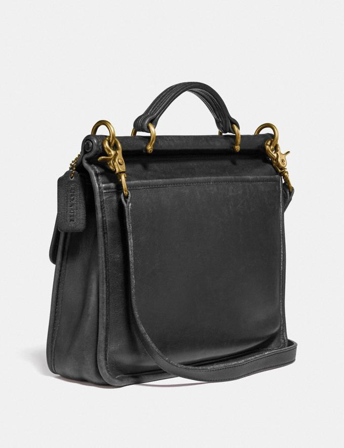 Coach Restored Willis Top Handle Brass/Black New Women's New Arrivals Bags Alternate View 1
