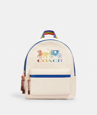 MEDIUM CHARLIE BACKPACK WITH RAINBOW HORSE AND CARRIAGE