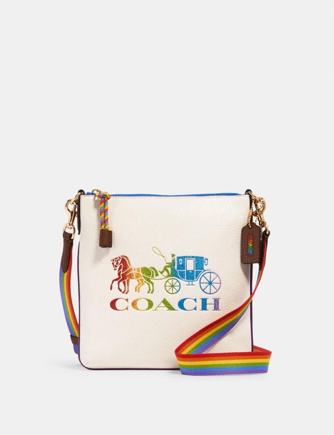 Coach Jes Slim Crossbody With Rainbow Horse and Carriage Im/Chalk Multi What's New Coach Pride