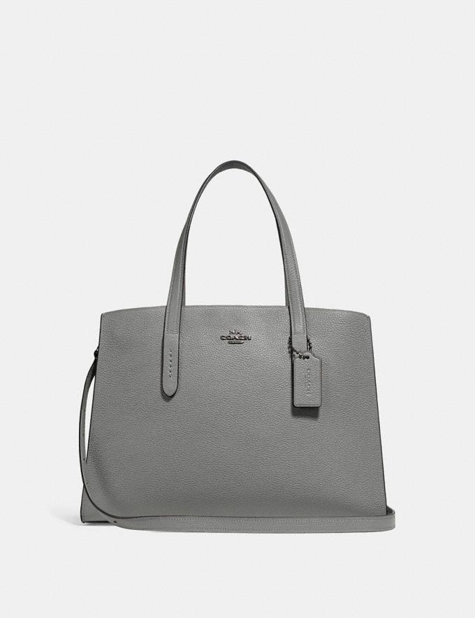 Coach Charlie Carryall Dark Gunmetal/Heather Grey New Featured Bestsellers