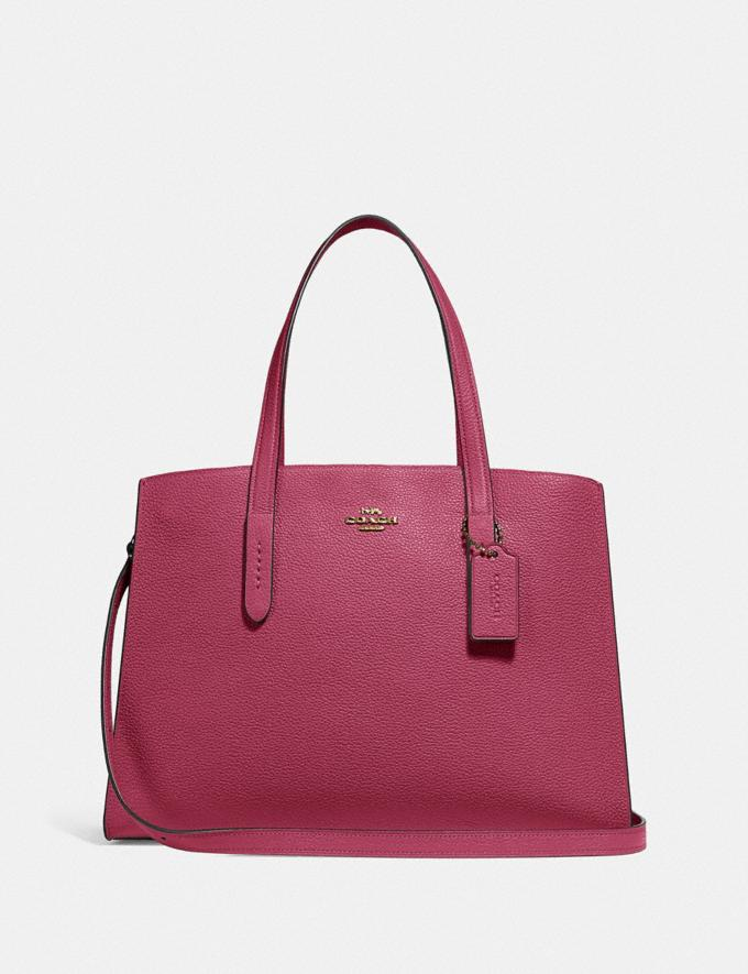 Coach Charlie Carryall Gold/Dusty Pink New Featured Women New Top Picks