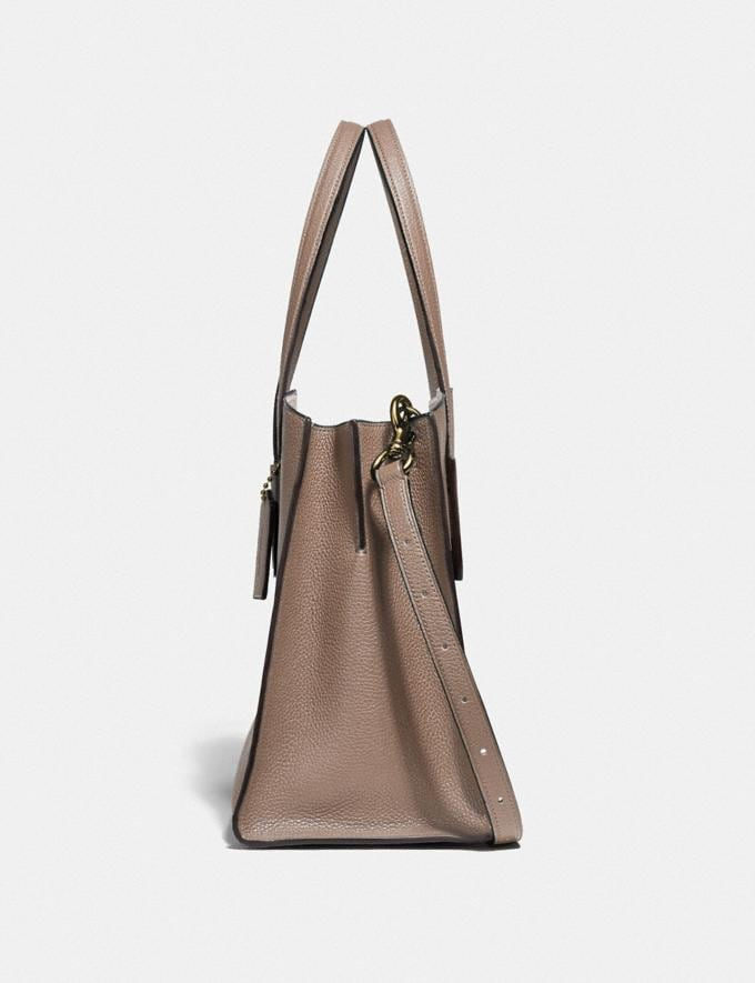 Coach Charlie Carryall Stone/Gold Women Handbags Satchels & Carryalls Alternate View 1