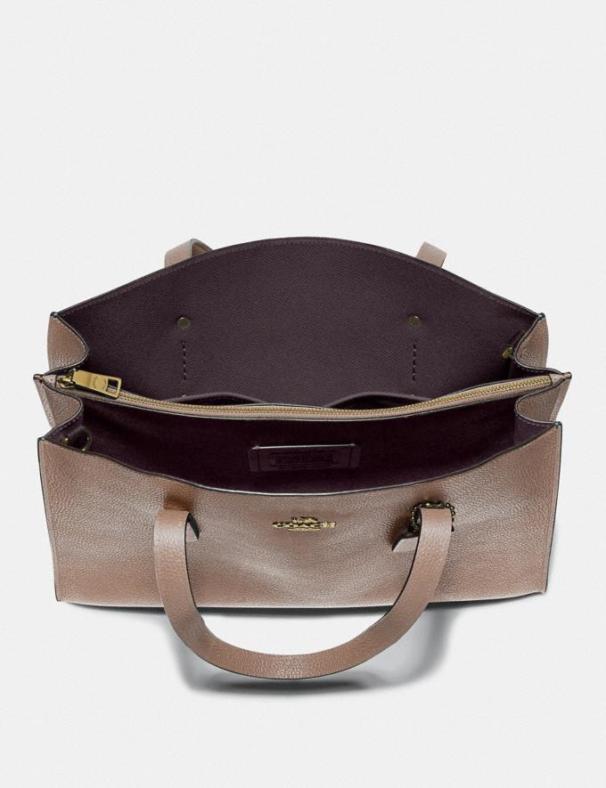 Coach Charlie Carryall Stone/Gold Women Handbags Satchels & Carryalls Alternate View 2