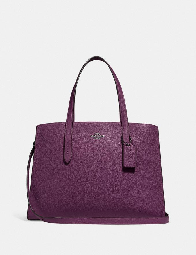Coach Charlie Carryall Gunmetal/Boysenberry New Featured Online Exclusives