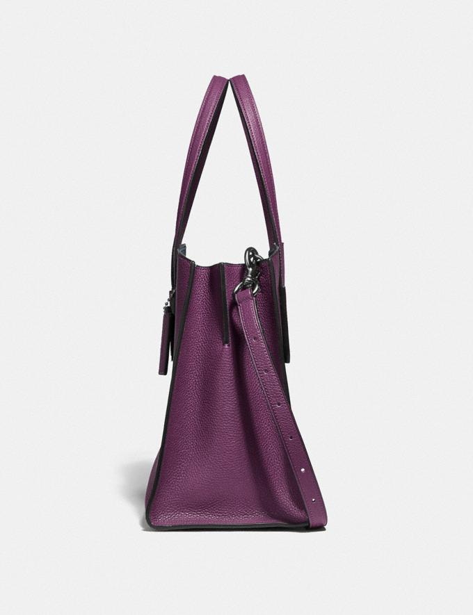 Coach Charlie Carryall Gunmetal/Boysenberry New Featured Online Exclusives Alternate View 1