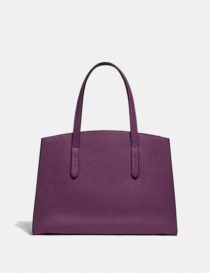 Coach Charlie Carryall Gunmetal/Boysenberry New Featured Online Exclusives Alternate View 2