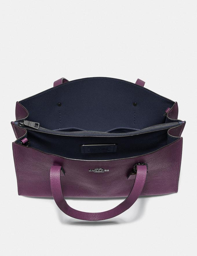 Coach Charlie Carryall Gunmetal/Boysenberry New Featured Online Exclusives Alternate View 3