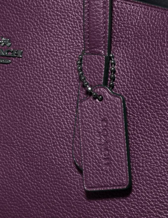 Coach Charlie Carryall Gunmetal/Boysenberry New Featured Online Exclusives Alternate View 5