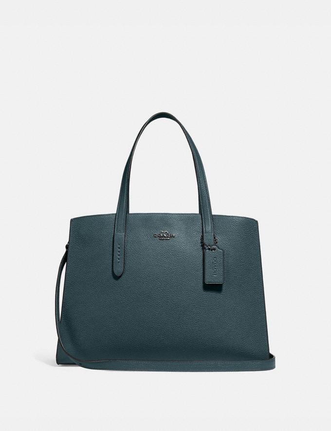Coach Charlie Carryall Cypress/Gunmetal Women Bags Satchels & Carryalls