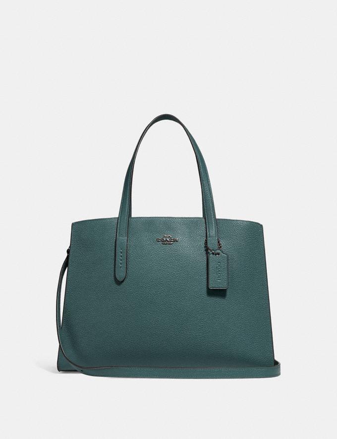 fc567dc6193 Coach Charlie Carryall Dark Turquoise/Gunmetal Women Bags Satchels &  Carryalls