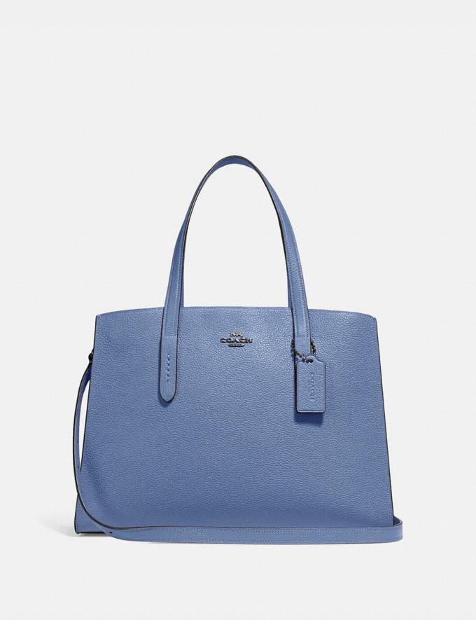 Coach Charlie Carryall Gunmetal/Stone Blue New Featured Women New Top Picks
