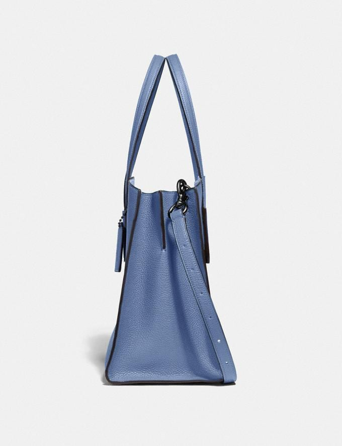 Coach Charlie Carryall Gunmetal/Stone Blue  Alternate View 1
