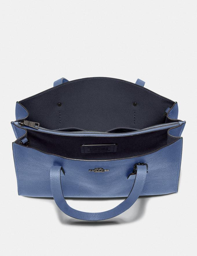 Coach Charlie Carryall Gunmetal/Stone Blue  Alternate View 2