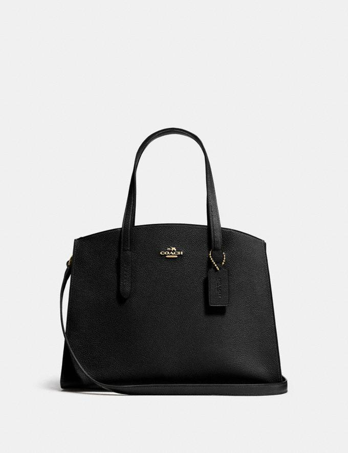 Coach Charlie Carryall Black/Light Gold Women