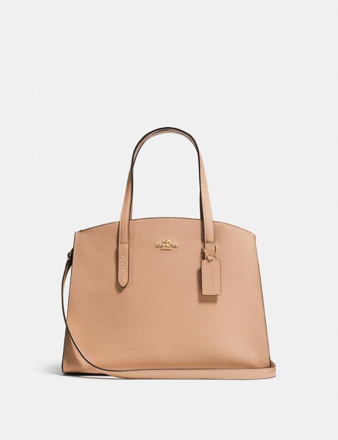 Coach Charlie Carryall Beechwood/Light Gold SALE Women's Sale Bags