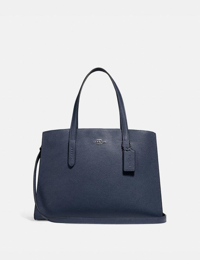 Coach Charlie Carryall Midnight Navy/Silver Personalise For Her Bags