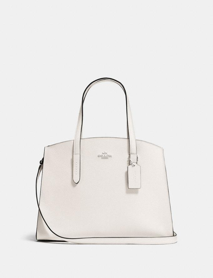 Coach Charlie Carryall Chalk/Silver Customization Personalize It Monogram for Her