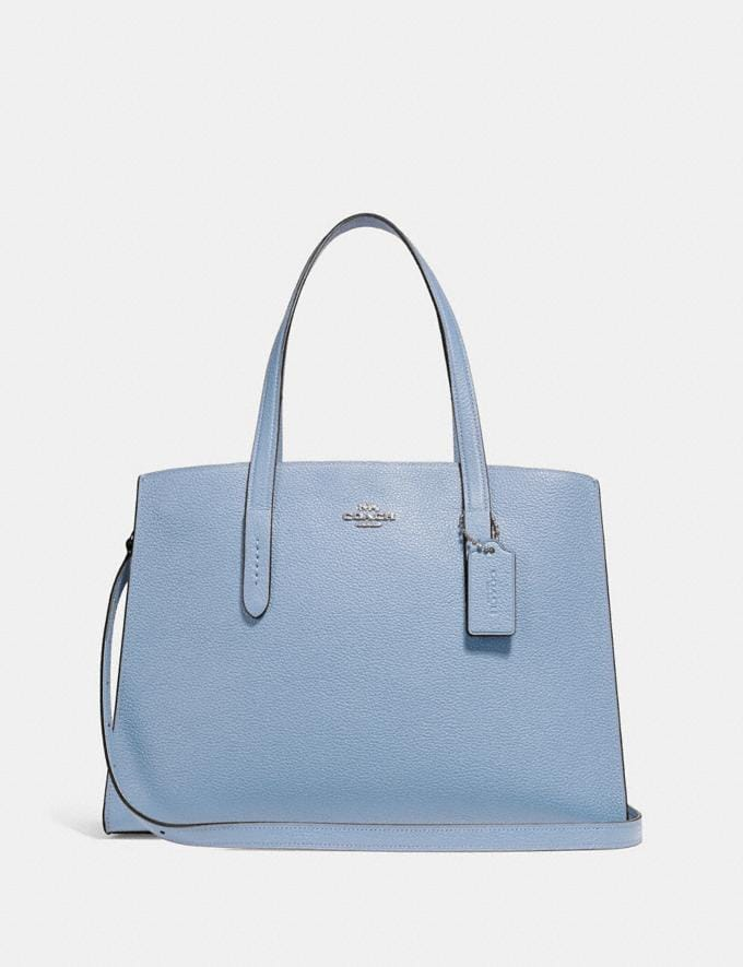 Coach Charlie Carryall Silver/Slate Gifts For Her Valentine's Gifts