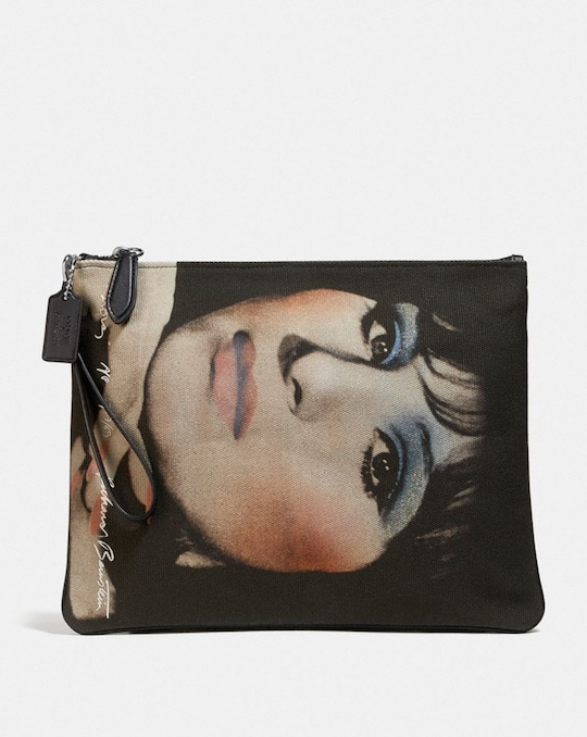 COACH X RICHARD BERNSTEIN POUCH 32 WITH BARBRA STREISAND