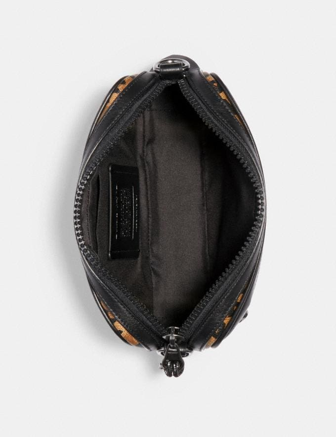 Coach Graham Crossbody in Signature Canvas With Rexy by Guang Yu Qb/Khaki Black  Alternate View 1
