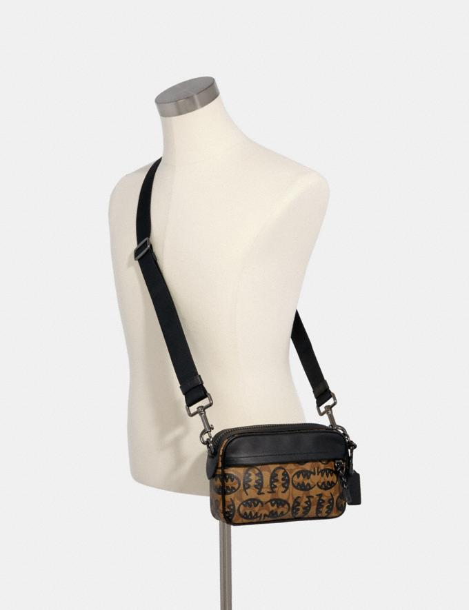 Coach Graham Crossbody in Signature Canvas With Rexy by Guang Yu Qb/Khaki Black  Alternate View 2