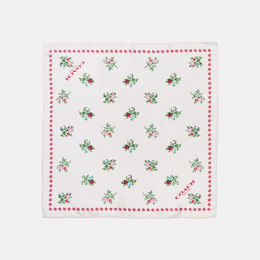 CROSS STITCH FLORAL HANKY