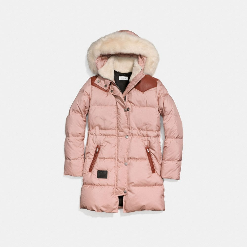 Coach Shearling Puffer Coat