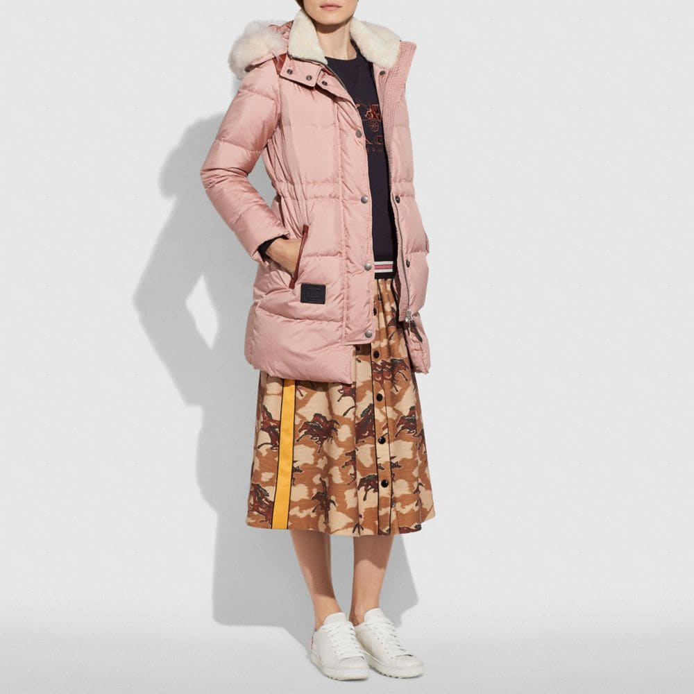 Coach Shearling Puffer Coat Alternate View 1