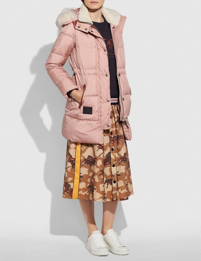 Coach Shearling Puffer Coat Dusty Pink  Alternate View 1