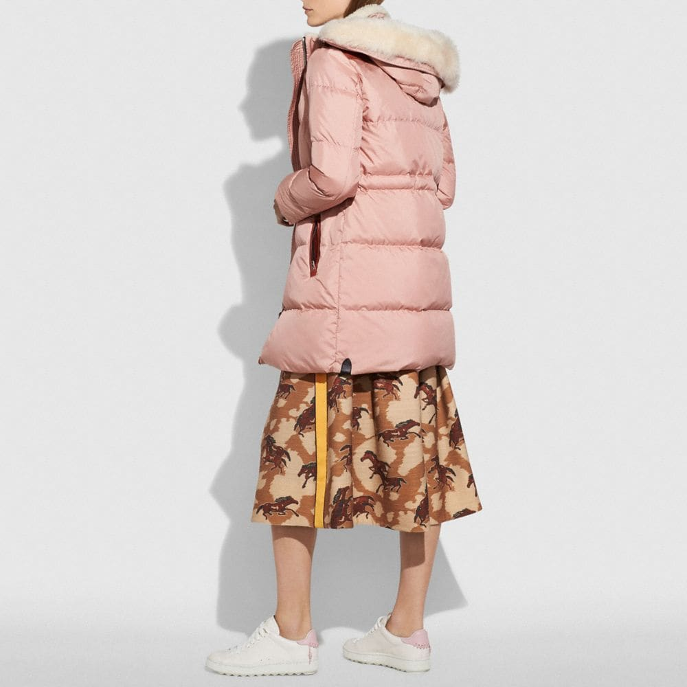 Coach Shearling Puffer Coat Alternate View 2