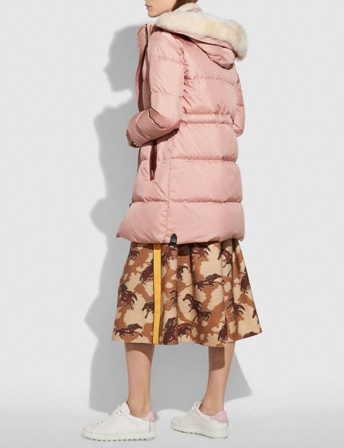 Coach Shearling Puffer Coat Dusty Pink  Alternate View 2