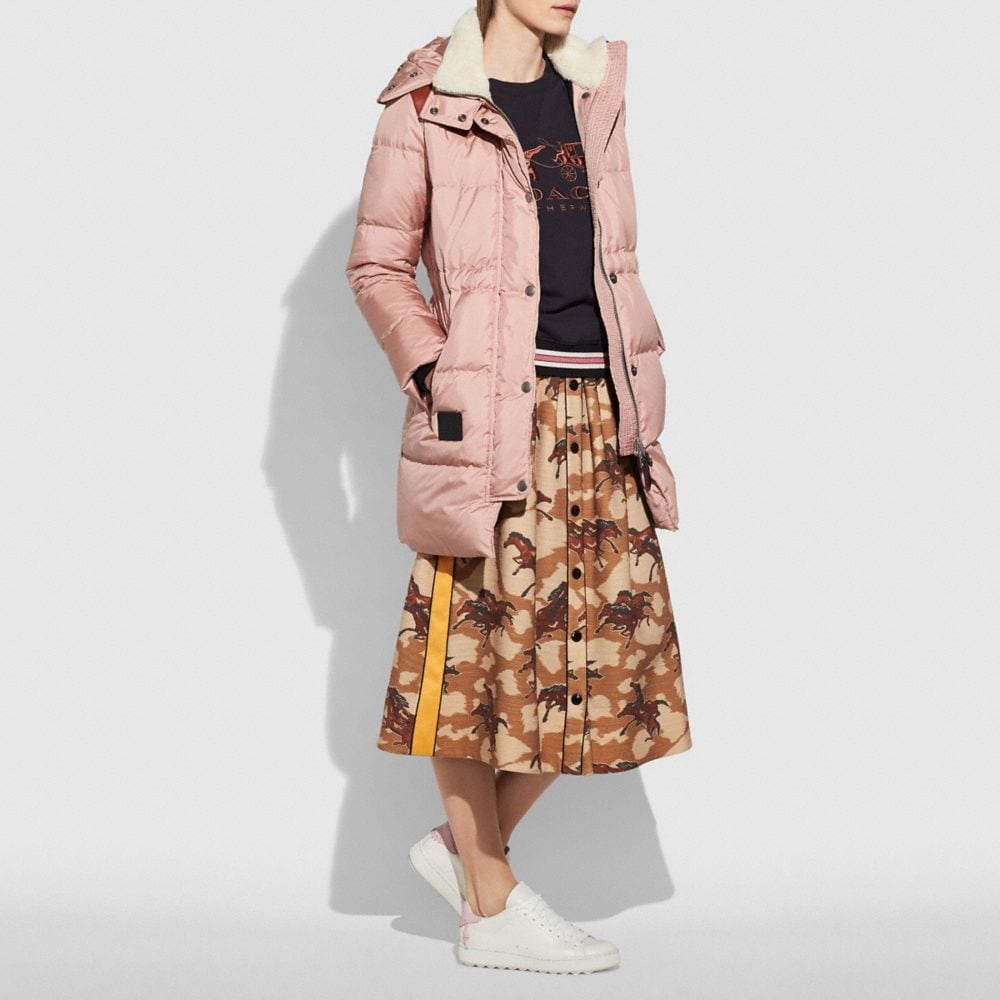 Coach Shearling Puffer Coat Alternate View 3