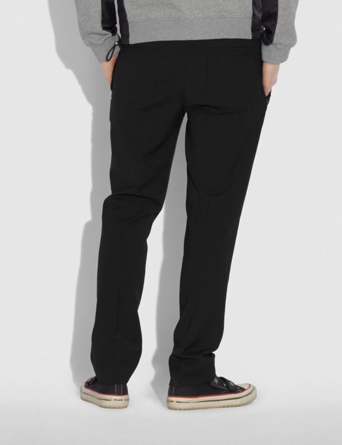 Coach Pleated Pants Black SALE Private Event Men's Alternate View 2