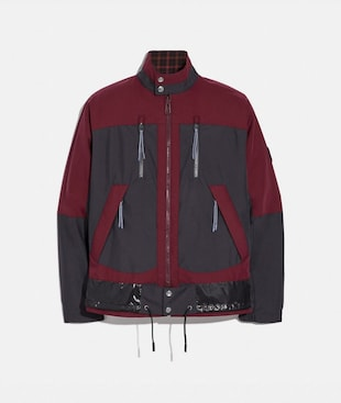 VESTE HARRINGTON À CARREAUX RÉVERSIBLE