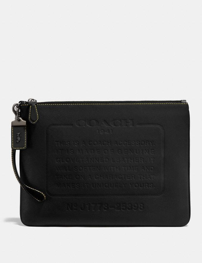 Coach Pouch With Storypatch Black New Featured Featured Coach and i-D: Style A-to-Zs