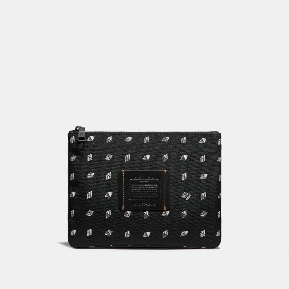 multifunctional pouch in cordura® fabric with dot diamond print