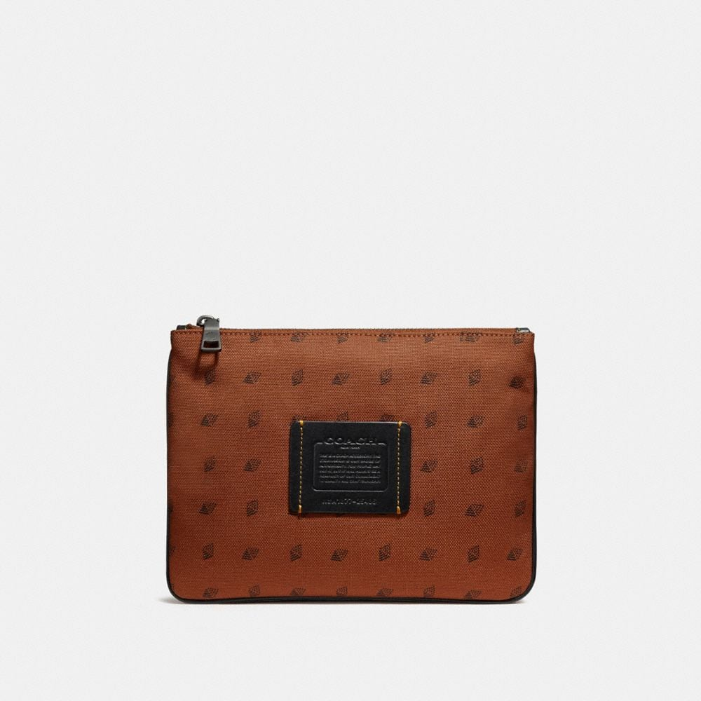 Coach Multifunctional Pouch With Dot Diamond Print