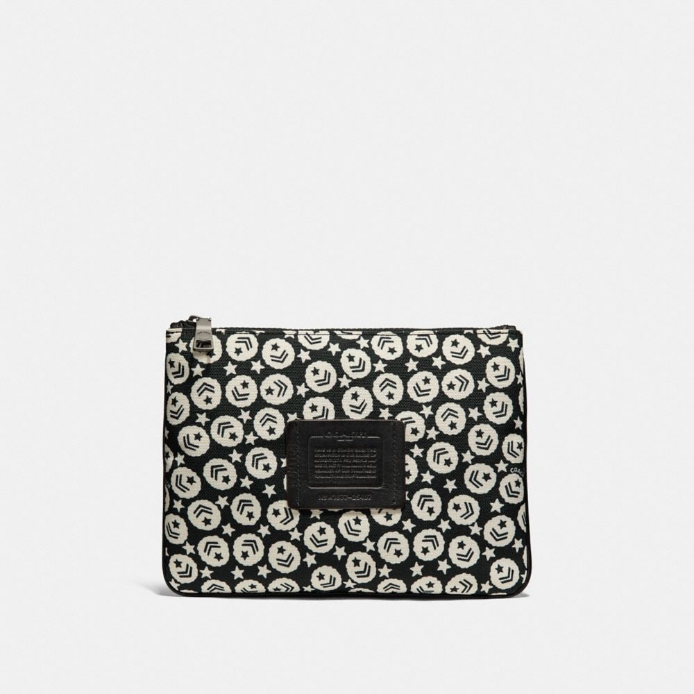 Coach Multifunctional Pouch With Chevron Star Print