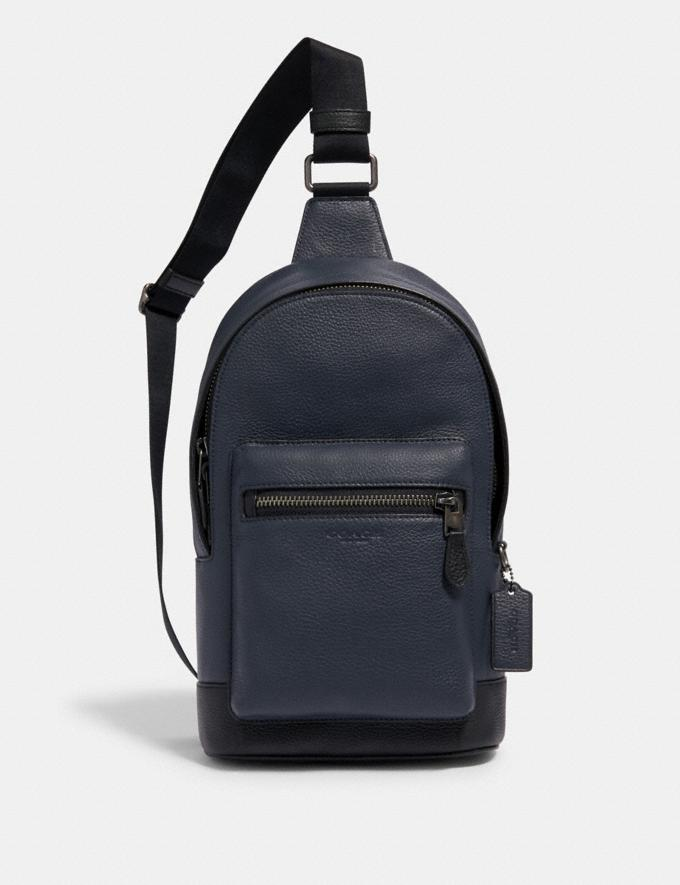 Coach West Pack Qb/Midnight Navy Outlet Men's Bags