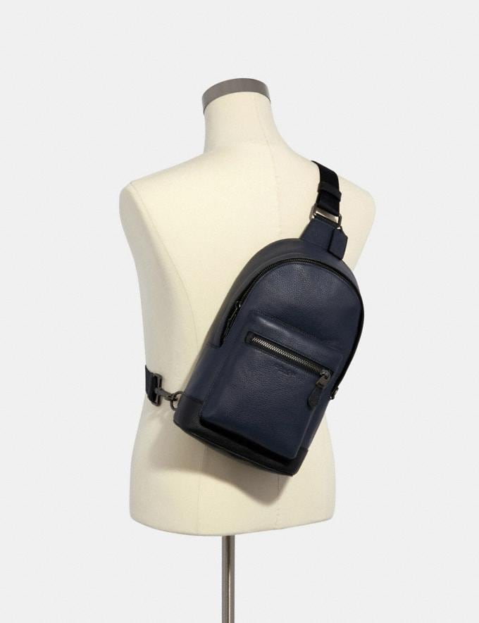 Coach West Pack Qb/Midnight Navy Outlet Men's Bags Alternate View 2