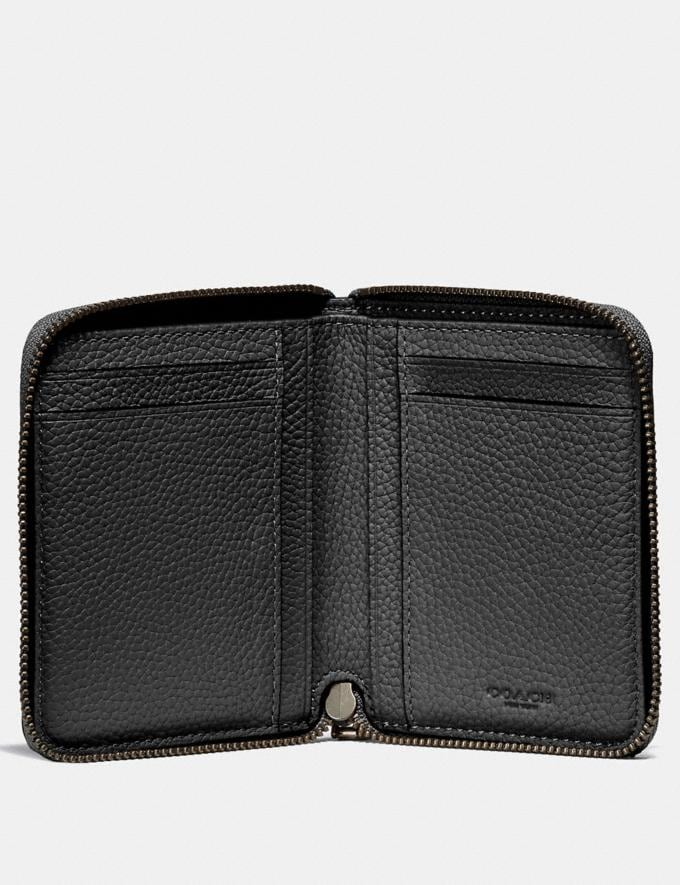 Coach Small Zip Around Wallet Black  Alternate View 1