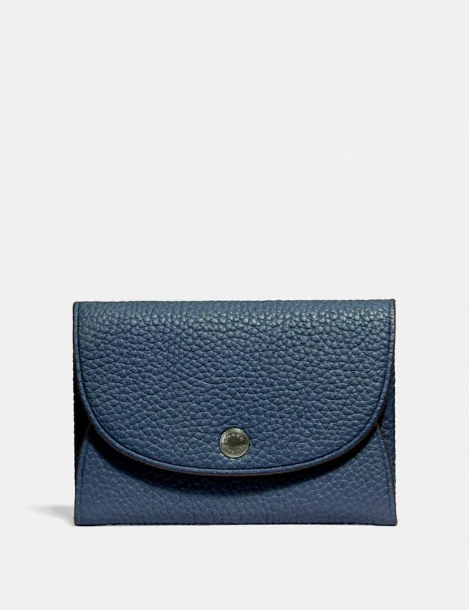Coach Snap Card Case in Colorblock Black/Midnight Men Edits Your Life, Your Coach