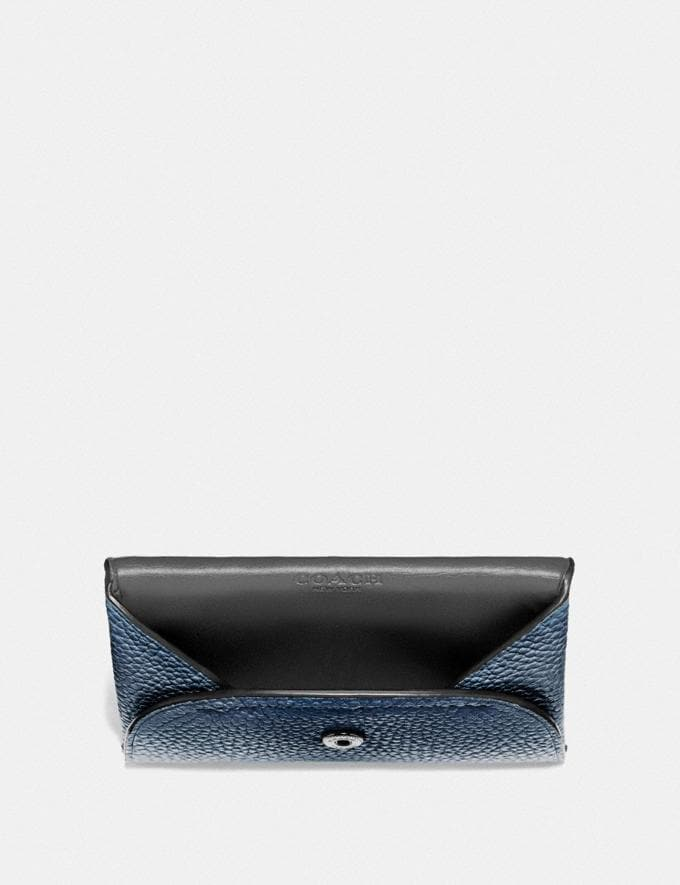 Coach Snap Card Case in Colorblock Black/Midnight Men Edits Your Life, Your Coach Alternate View 1