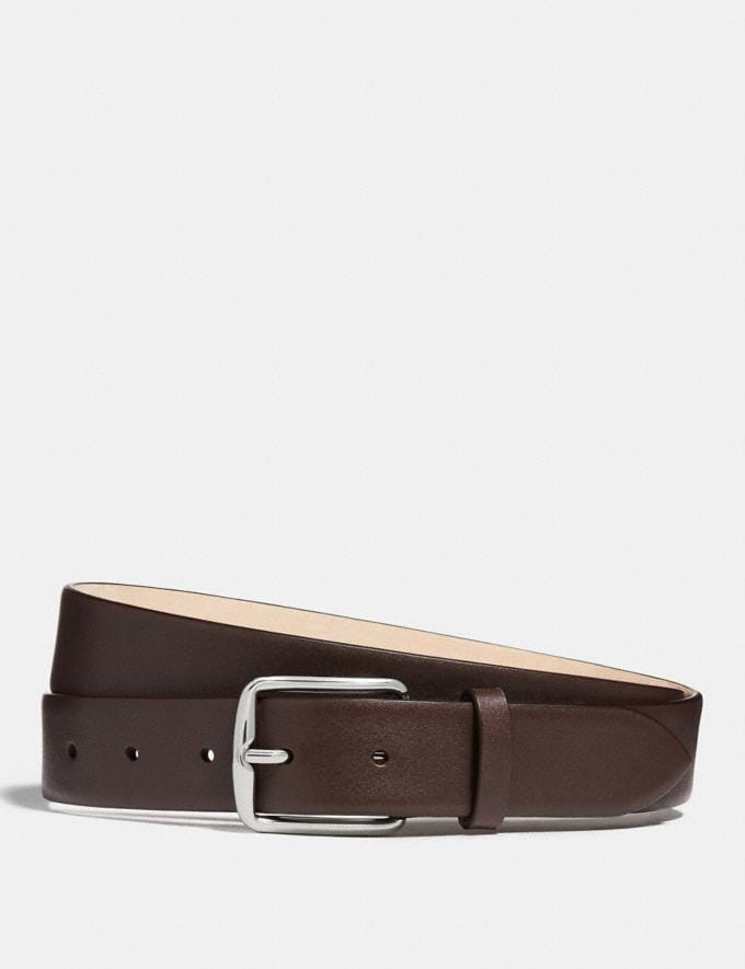 Coach Harness Buckle Dress Belt, 32mm Mahogany Men Accessories Belts